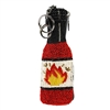 Mary Frances Turn Up The Heat Hot Sauce Beaded Zip Coin Purse