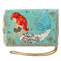 Mary Frances Disney Ariel The Little Mermaid Beaded Crossbody Clutch