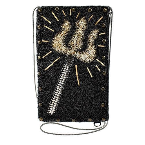 Mary Frances Disney King Triton Beaded Phone Crossbody