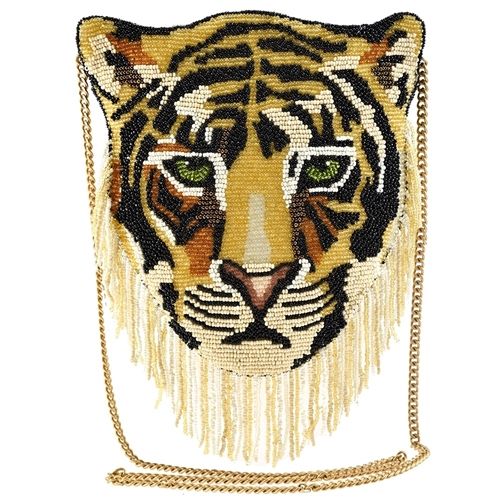 Mary Frances Disney Aladdin Majesty Rajah Tigar Beaded Crossbody