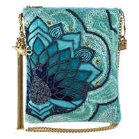Mary Frances Disney Aladdin Palace Peacock Beaded Crossbody