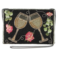 Mary Frances White Wine Salute Convertible Crossbody