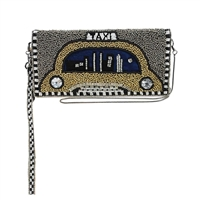 Mary Frances New York Nights Yellow Taxi Cab Phone Wristlet Wallet Crossbody