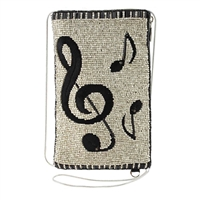 Mary Frances Well Noted Music Beaded Phone Crossbody