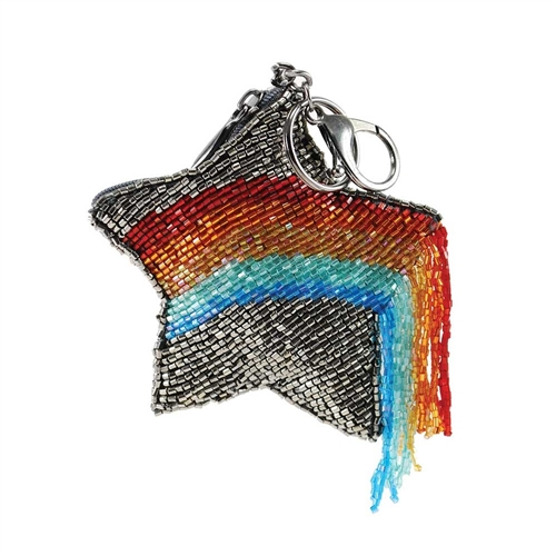 Mary Frances When You Wish Rainbow Star Zip Coin Purse