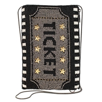 Mary Frances Admission Movie Ticket Beaded Phone Crossbody