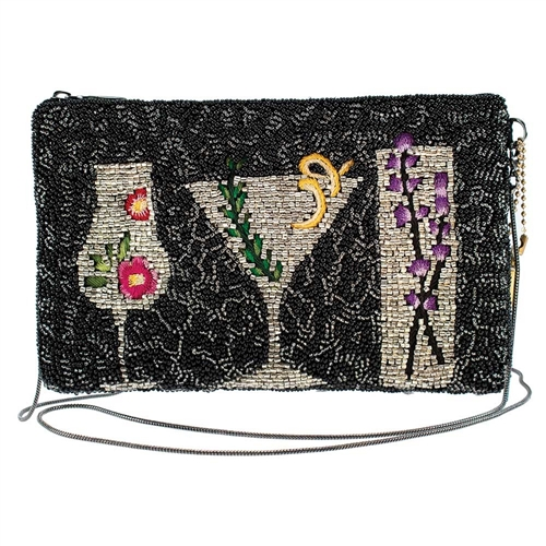 Mary Frances After Hours Botanical Cocktail Phone Crossbody