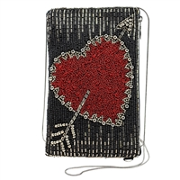 Mary Frances Heart of The Matter Beaded iPhone Crossbody