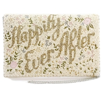 Mary Frances Happily Ever After Beaded Clutch Bridal Bag