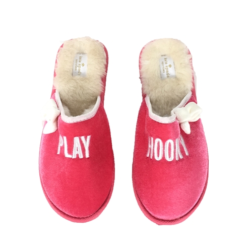 Kate Spade Play Hooky Berry Slippers