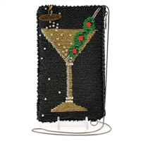 Mary Frances  Martini Roll Beaded iPhone Crossbody