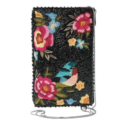 Mary Frances Night Garden Floral Beaded Phone Crossbody