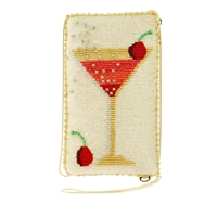 Mary Frances Cosmo Martini Roll Beaded iPhone Crossbody