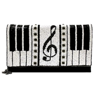 Mary Frances Keyed Up Piano Beaded Convertible Clutch Crossbody
