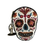 Mary Frances Bone To Pick Sugar Skull Beaded Coin Purse/Key Fob