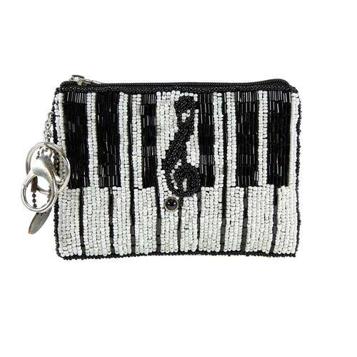 Mary Frances Keyed Up Piano Zip Coin Purse