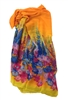 Magid Floral Print Sarong Swim Cover Up