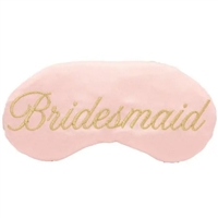 Sleepy Cottage Bride Gold Script Satin Sleep Mask