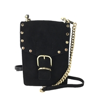 Rebecca Minkoff Biker Suede Leather Phone Crossbody