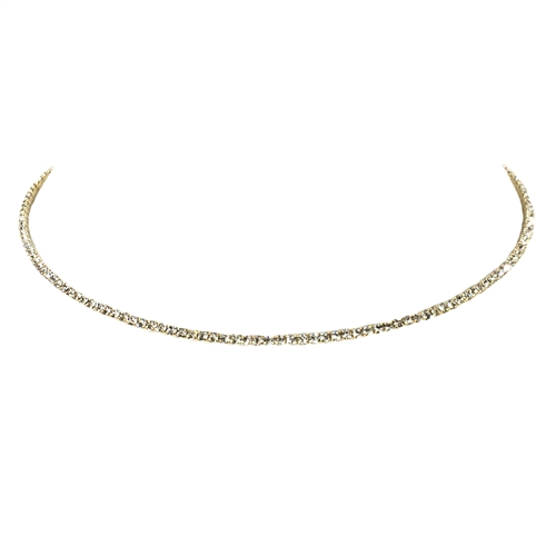 Electra Crystal Single Line Choker Tennis Necklace