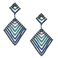 Lavern CZ Crystal Diamond-Shaped Drop Earrings
