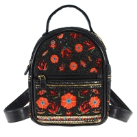 Mary Frances Viva La Noche Beaded Mini Backpack