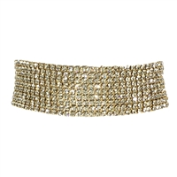 Ava Crystal Set Open 9 Line Tennis Bracelet