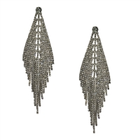 Evlin Crystal Fringe Statement Drop Earrings