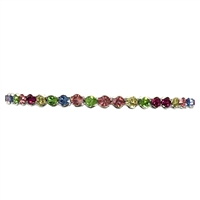 Gloria Floating Multicolored Crystal Petite Cuff Bracelet