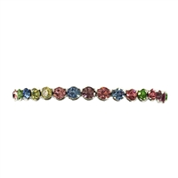 Mieze Floating Multicolored Crystal Petite Cuff Bracelet