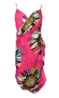 Semi Sheer Multi Way Sarong Swim Cover Up