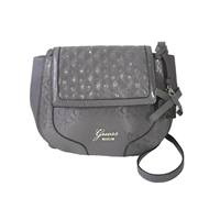 GUESS Frosty Polished G Logo Saddle Crossbody
