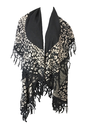 Double Layer Cape w Fringe