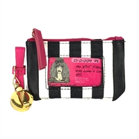 Betsey Johnson  Bow Retractable Lanyard ID Case