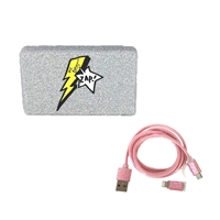 Betsey Johnson Zap Glittering Portable Charger Power Bank