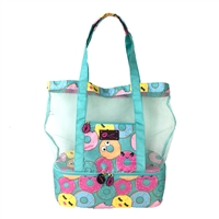 Luv Betsey Johnson Donut Print Mesh Cooler Beach Tote