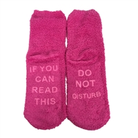 Do Not Disturb Women's Cozy Fuzzy Socks