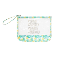 Top It Off Beach Checklist Clear Wristlet Wet Dry Swim Ditty Bag