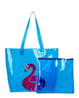 Luv Betsey Johnson Flamingo Beach Tote, Flamingo Float & Zip Pouch Set