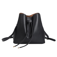 Melie Bianco Leia Vegan Leather Drawstring Bucket Bag