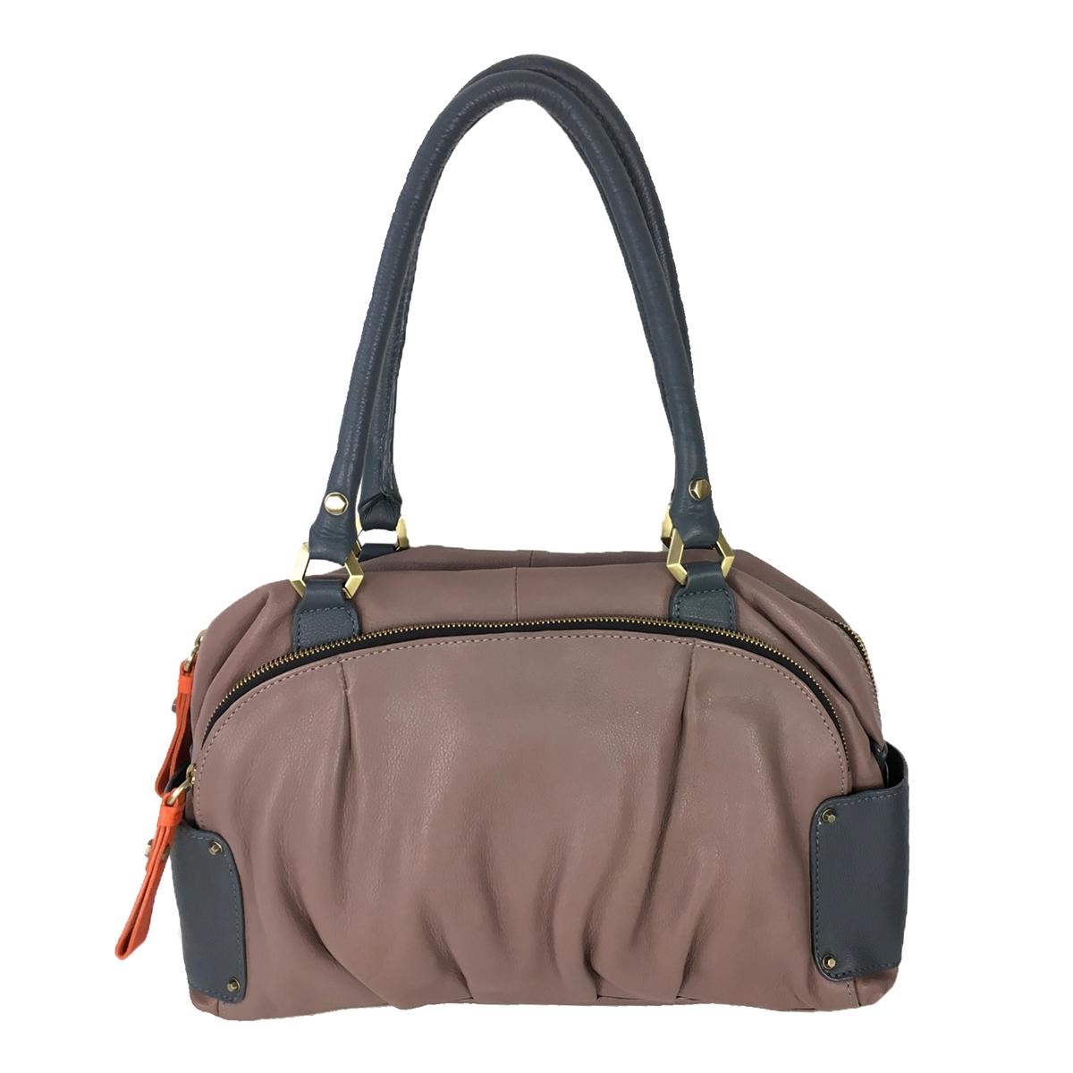 b7ba612cb110 orYANY Tina Leather Satchel Bag, Mushroom Taupe