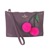 Kate Spade On Purpose Cherry Leather Mini Wristlet
