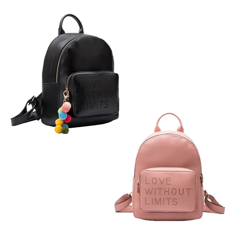 Melie Bianco Darcy Quote Vegan Leather Backpack