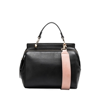 Melie Bianco Noelle Vegan Leather Colorbock Satchel