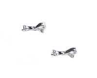 "Kate Spade ""Skinny Mini"" Love Notes Bow Stud Earrings, Silver"