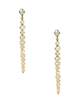 Kate Spade Clear as Crystal Long Linear Ear Jackets