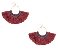 Namakol 'Celeste' Large Hoop Tassel Earrings