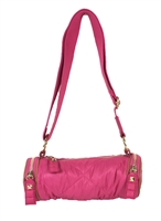 Juicy Couture Puffy Nylon Barrel Duffle Crossbody