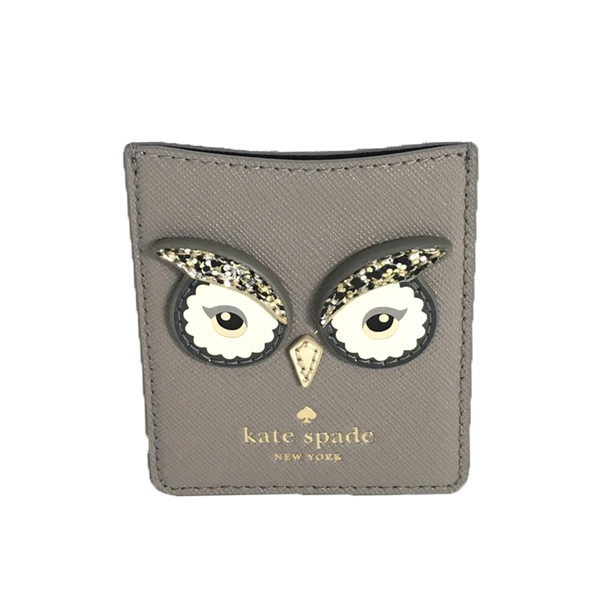 reputable site 8b4a6 e45f4 Kate Spade Owl Leather Sticker Phone Pocket Card Case, Cityscape