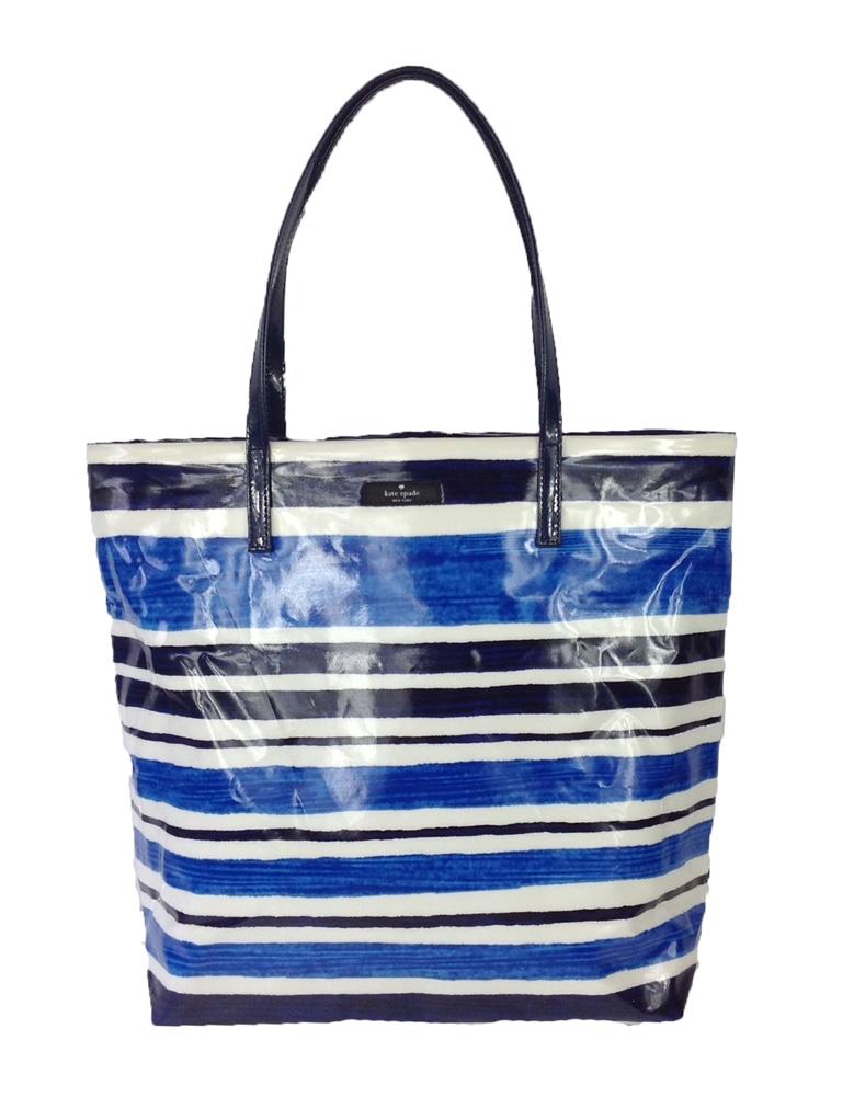 b74353310cd2 Kate Spade New York Daycation Bon Shopper Tote, Blue Capri Stripe